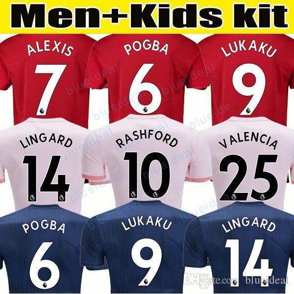 13cfa9745 2018 2019 POGBA Man Soccer Jerseys 2019 Football Shirt ALEXIS ...