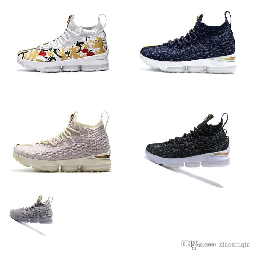 277a697bc50 2019 Cheap Men Lebron 15 Low Cut Basketball Shoes For Sale KITH Floral  Flower Closing Ceremony Los Angeles LA Lifestyle Sneaker Tennis With Box  From ...