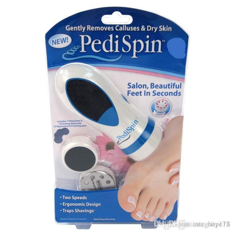 docooler PediSpin Electronic Foot Callus Removes Calluses Dry Rough Skin Corn Remover Shaver File Foot Care Pedicure Pedi Kit Set