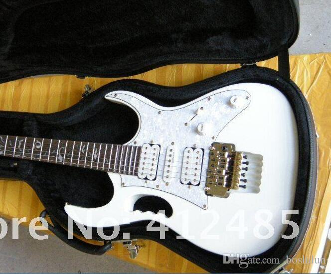 Factory store wholesale quality white guitar free shipping with casear