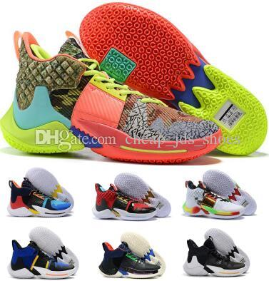 0736b2cb7a0 Men Basketball Shoes 2019 Russell Westbrook 2 Why Not Zer0.2 Sneakers Own  The Game Chaos Future Green Designers Basket Ball Luxury Shoes Basketball  Shoes ...