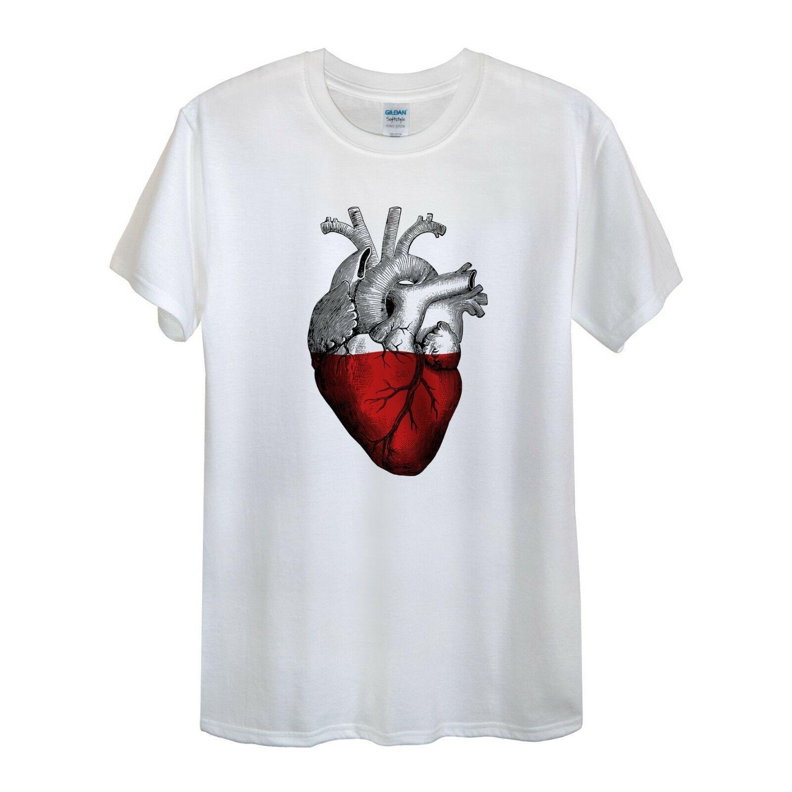 856cb4286 Poland T Shirt Men Women Unisex Love Heart National Polish Polska Gift  ShirtFunny Unisex Casual Top With T Shirt T Shirts Shopping From Dragontee,  ...