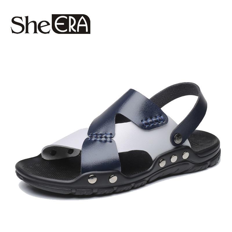 3e7f5c740b Fashion Man Beach Sandals 2019 Summer Gladiator Men'S Outdoor Shoes Roman  Men Casual Shoe Flip Flops Large Size 46 Slippers Flat Walking Sandals  Sandals ...