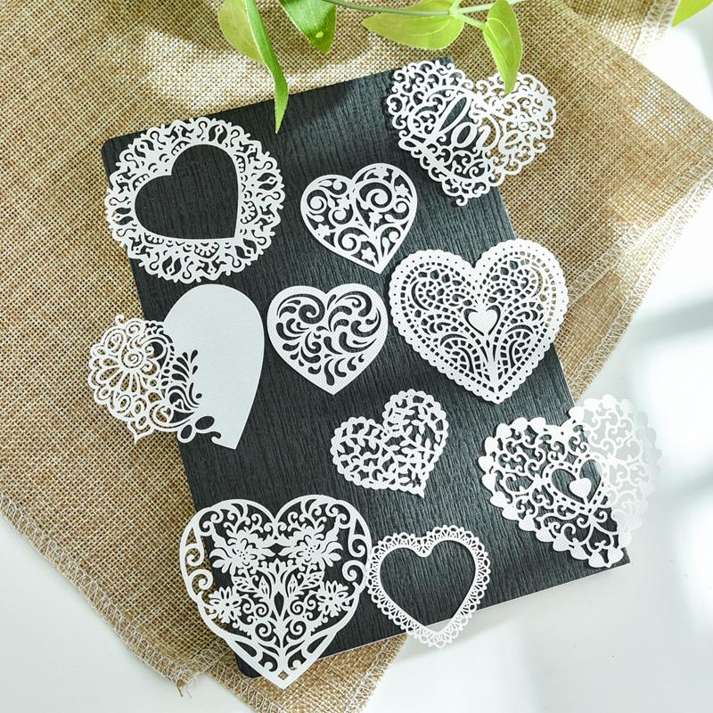 Cheap Craft Paper YPP CRAFT 10pcs White Lace Hearts For DIY Scrapbooking/Card Making/Kids Fun Decoration Supplies