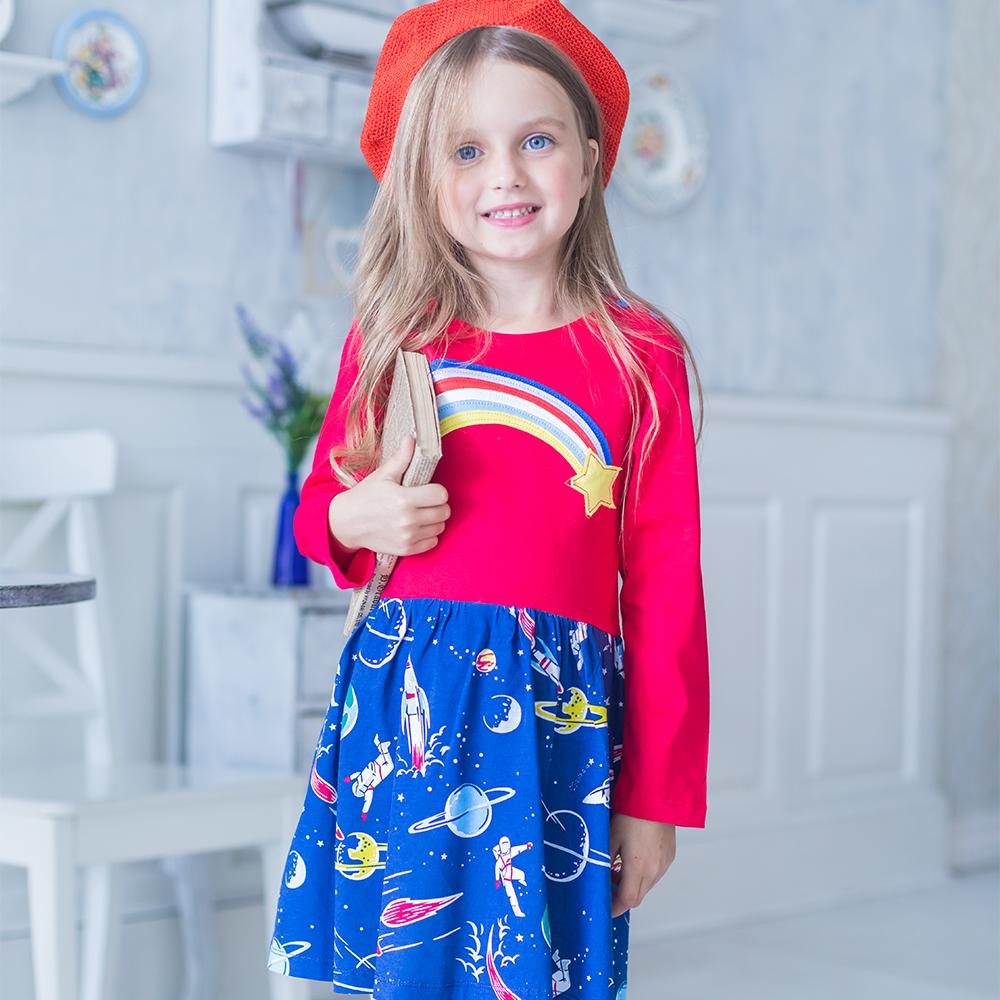 364a4af413ddb Baby Clothes Girls Dresses 2018 Autumn Winter Long Sleeve Girl Dress  Children Clothing Kids Cotton Tunic Jersey Princess