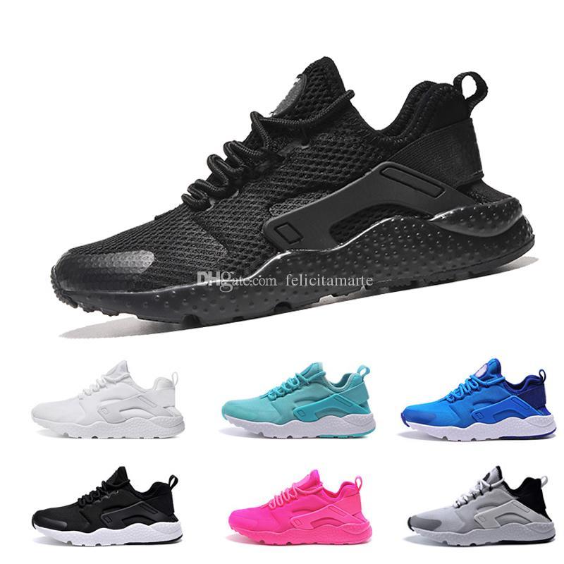 f4fc46d64684 2019 Hot 2018 New Air Huarache Ultra Huaraches Breathe Hurache IV 4.0 3.0 Running  Shoes Men Women Huraches Sneakers Size 36 45 From Felicitamarte