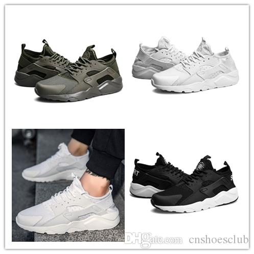6e328397d7c3 2018 Wholesale Cheap Huarache IV Ultra Running Shoes Huaraches Trainers For  Men Women Black Red White Shoes Triple Hurache Sneakers Size 36 45 From ...