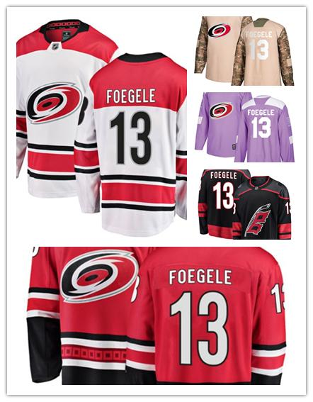 cheap for discount 15dfb 04bdb Carolina Hurricanes jerseys #13 Warren Foegele Jersey hockey men women  youth Authentic Black Alternate red home white away Stiched Jerseys