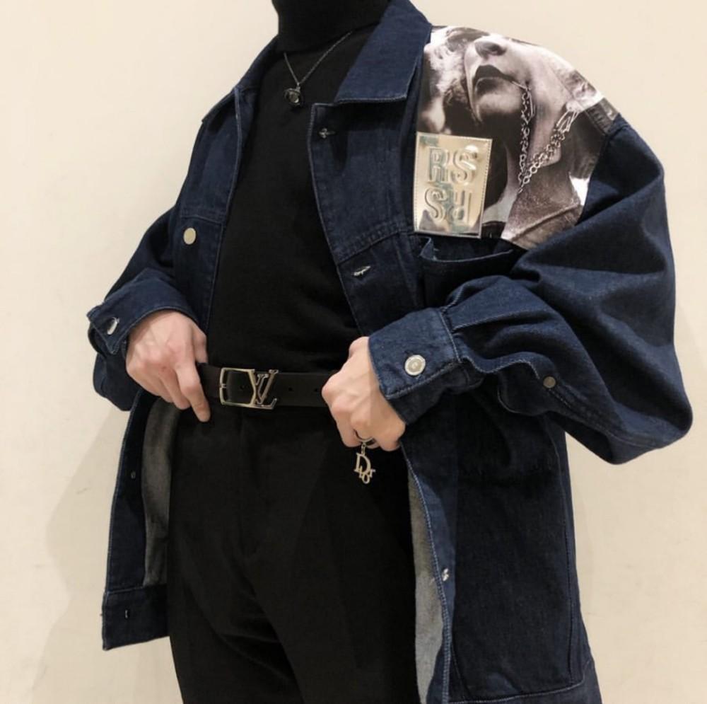 Großhandel RAF 19SS SIMONS Portrait Blue Herren Designer