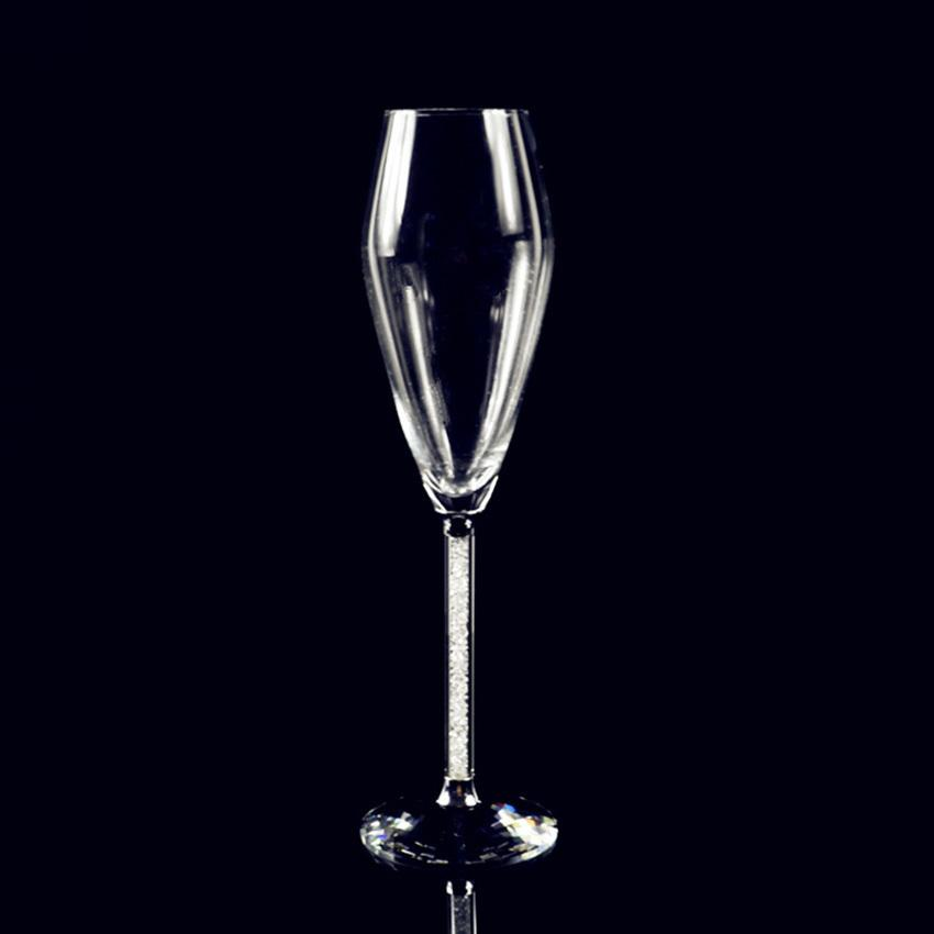 wholesale 200ML Crystal Wine Glass Luxury Toasting Wine Goblets for Wedding Party with Rhinestones Filled Stem Glass YUI1020