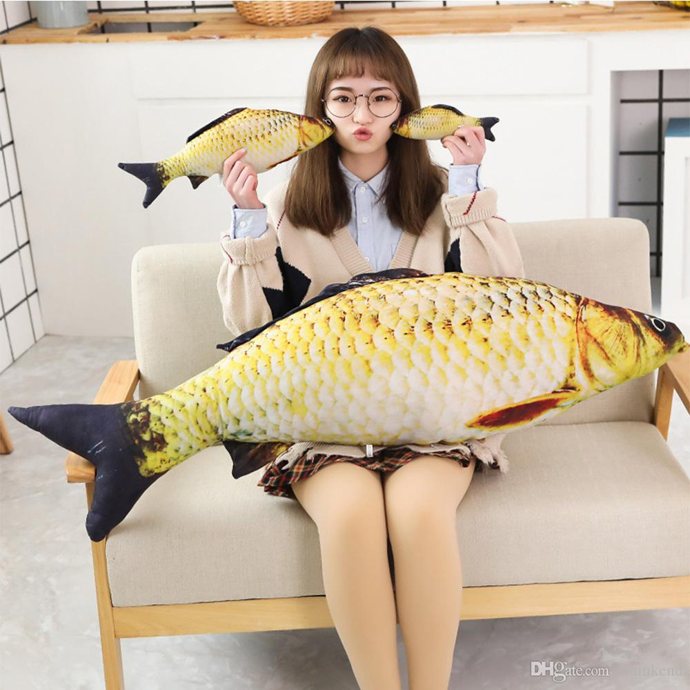 2019 1pc 30cm Fashion Simulation Carp Stuffed Fish Plush Toys Pillow Kids Creative Sofa Bed Pillow Appease Baby Kids Toy Christmas Gift