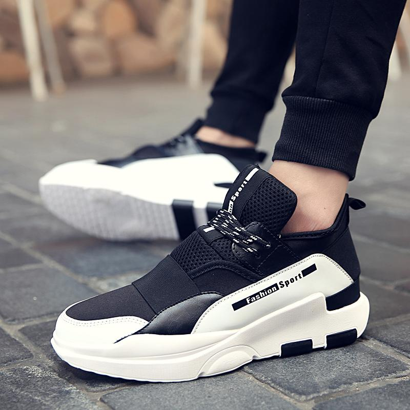 Breathable Men Casual Shoes height Increasing Trainers Flat Walking Shoes Sport Camouflage Zapatillas Hombre Light Soft shoe