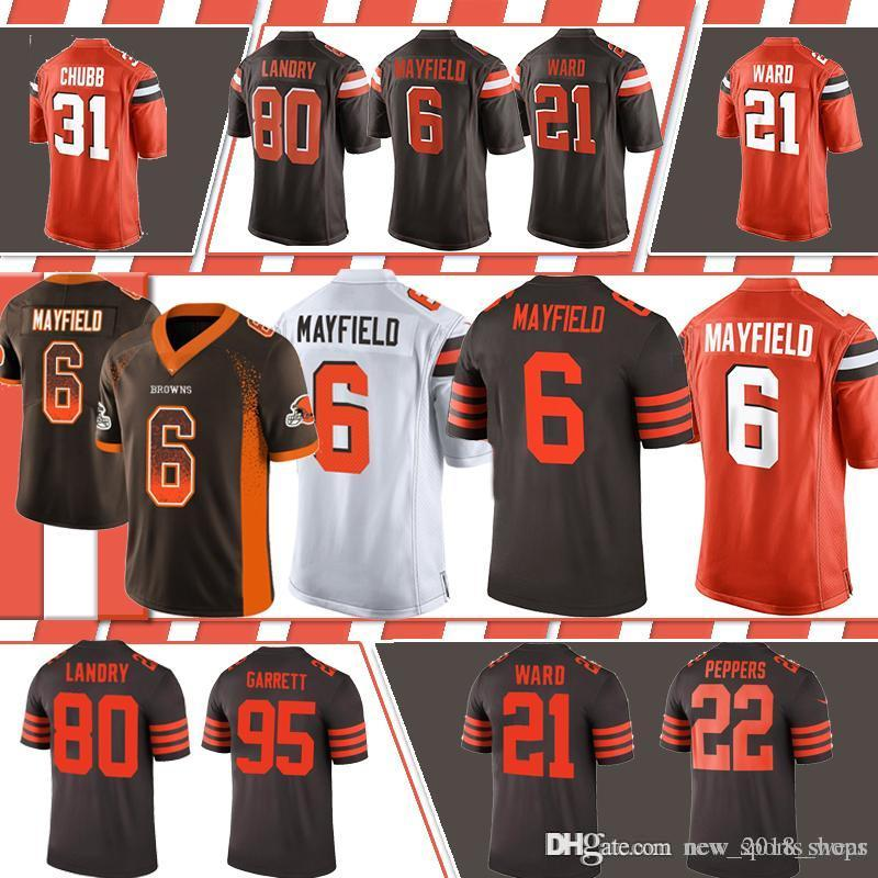 2167e806858 2019 13 Odell Beckham Jr Cleveland Brown 6 Baker Mayfield 21 Denzel ...