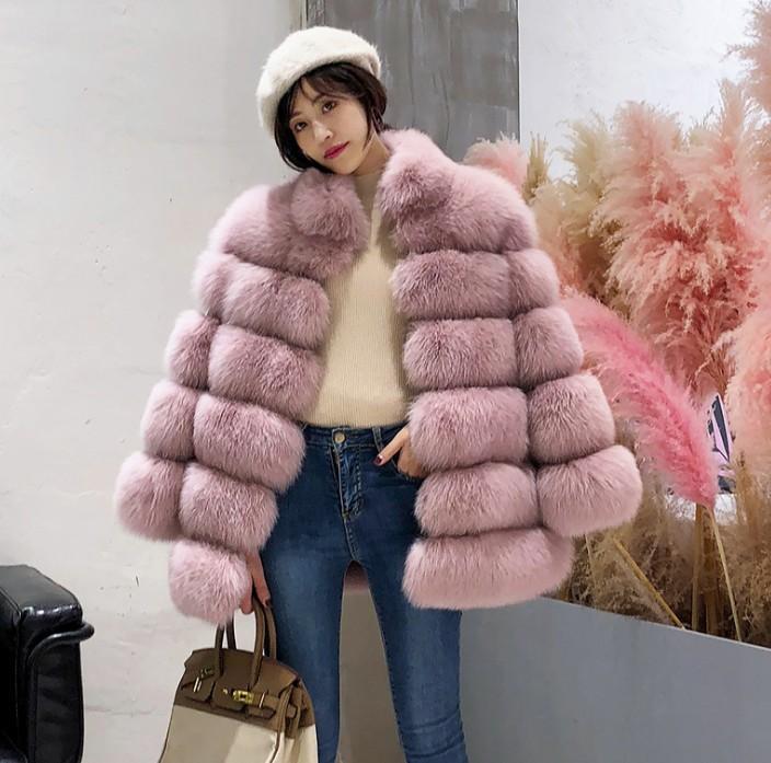 e84d3ff982 ful S 4XL Plus Size Women Stand Collar Long Sleeve Fur Coat Slim Long Pink  Red Blue Faux Fur Jacket Women Fake Coats From Manteau, $76.59 | DHgate.Com