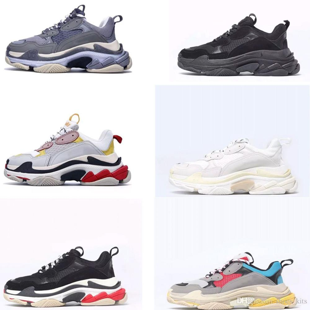 Compre Paris 17fw Triplo S Run Shoes Pai De Luxo Sapato Triplo S Sapatilhas  Para Homens Mulheres Revela Formadores De Lazer Retro Treinamento Original  De ... 29dfa75e3fe79