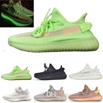 V2 Clay True Form Hyperspace Static Gid Glow In The Dark Kanye West Men Running Shoes H White Black Women Sport Designer Sneaker