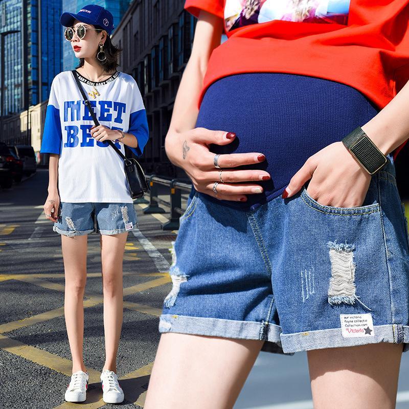 fa476c7681f2 Acquista M 4XL Pantaloni Donna Incinta Pantaloncini Da Cowboy Estate Abiti  Gravidanza Sostegno Maternità Jeans Pantaloncini Ropa Embarazada A  34.91  Dal ...