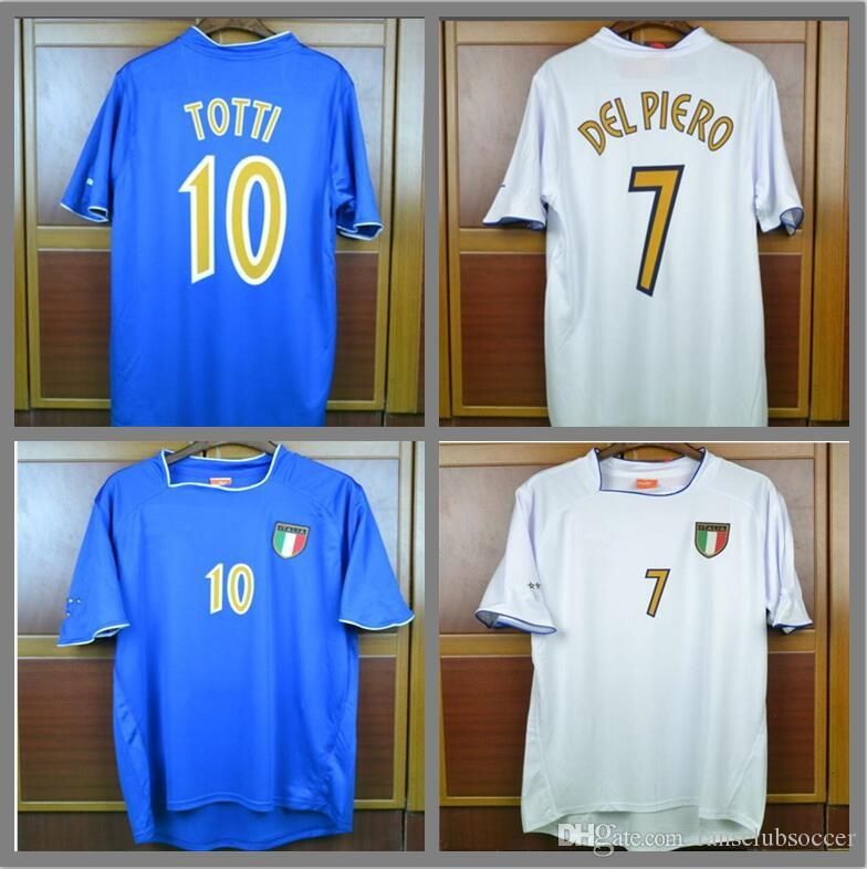2019 Euro Cup Retro Soccer Jerseys 2003 Italy Home Away White Jerseys Del  Piero Pirlo Totti Inzaghi Jersey Classic Vintage Football Shirt From ... e27277070