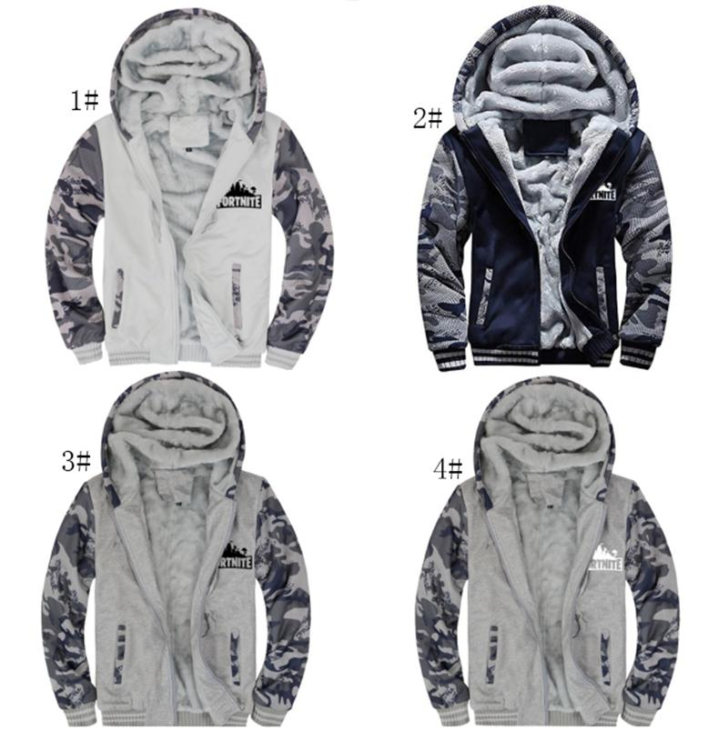 636d8db9e3fbb Game Fortnite Men Fleece Camo Jacket Coat Camouflage M-5XL Plush Hoodie  Cardigan Boys Thicken Hooded Pullover Sweatershirts Tops Outwear Online  with ...