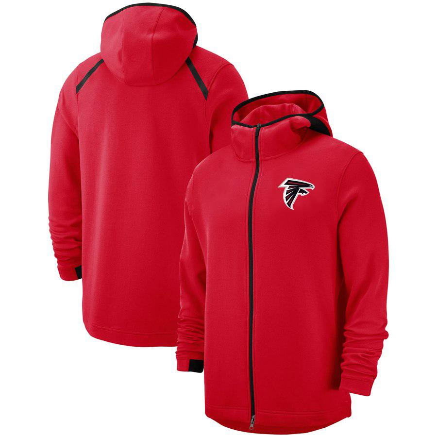 Mens Atlanta Falcons Vintage-Authentic Sweatshirt Praxis Showtime Therma Flex Performance-Full-Zip Hoodie
