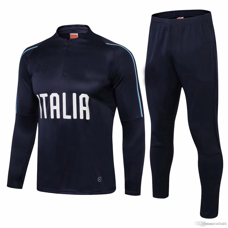 fde4aabd704 2018 2019 Italy Training Suit Tracksuit Trainingsuit Futbol Camisa ...