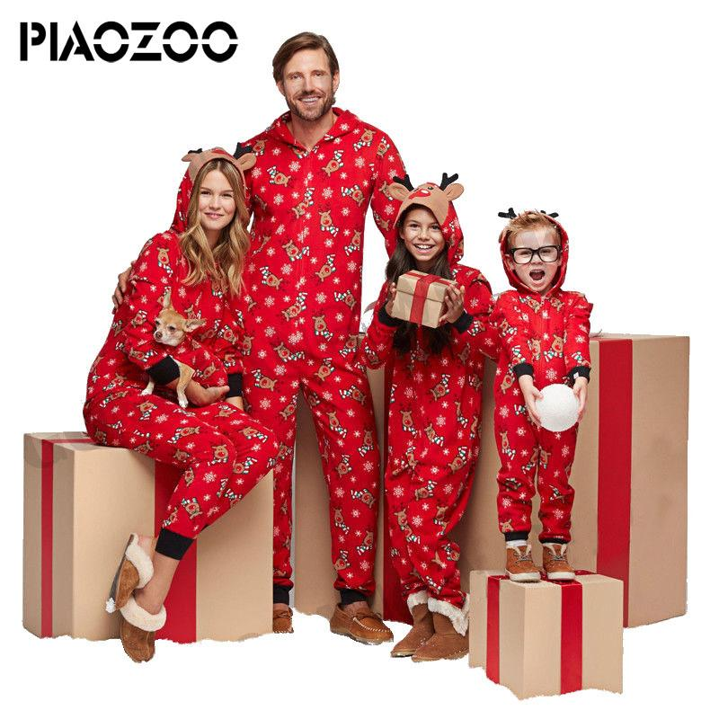 in vendita 94eae c9421 Inverno pigiama famiglia natale pigiama set bambini con cappuccio pigiama  unisex homewear confortevole adulto pigiami con cappuccio onsie p20