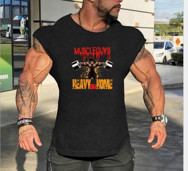 Acheter Ins 2019 Dragon Ball Muscle Wukong GYM Sports Fitness Gilet Hommes  Coton Lâche Sans Manches T Shirt Hommes Gilet De  6.65 Du Qiaodongdong  1945a95c137