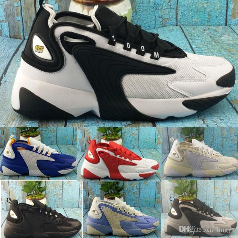 nike 2019 New Zoom 2K Sneaker Zoom 2000 Schuhe Schwarz Blau Weiß Rot Männer Laufen Basketball Herren Trainer Lässige Turnschuhe Chaussures 40 46