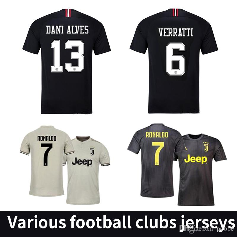 hot sale online fab2d 5c0a9 New 18 19 RONALDO Juventus Soccer Jersey 2018 2019 JUVE Away Real Madrid  maillot de foot Camiseta de Futbol football shirt kit