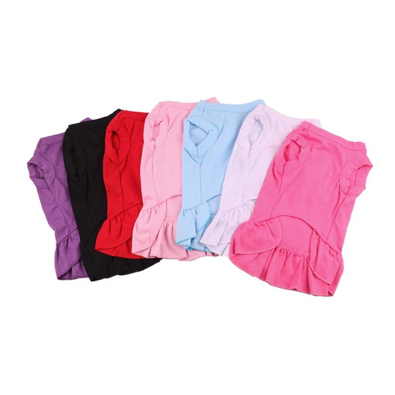Pleated Skirt Pet Dogs Clothes Tuba Mulit Color Delicate Comfortable Bottom Skirt Suit Dog Apparel 9 2yw E1