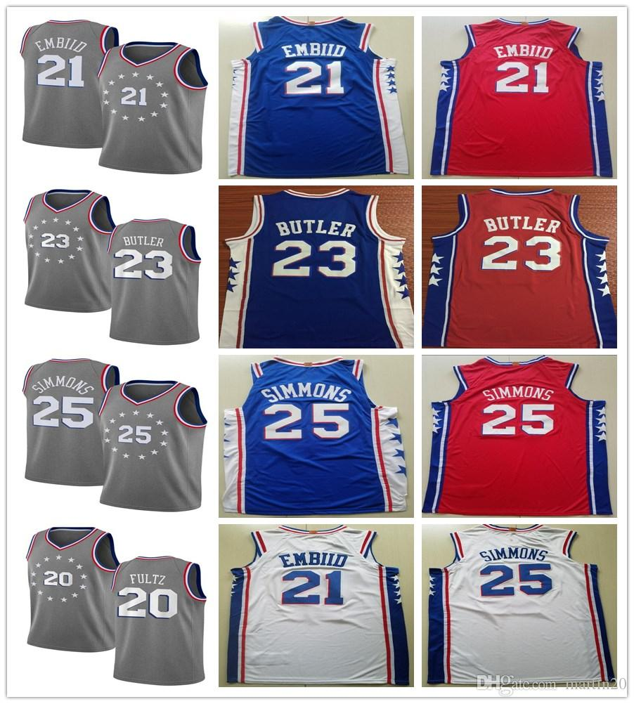 c83185fdb New City Edition Gray 23 Jimmy Butler Jerseys Stitched Blue Red ...