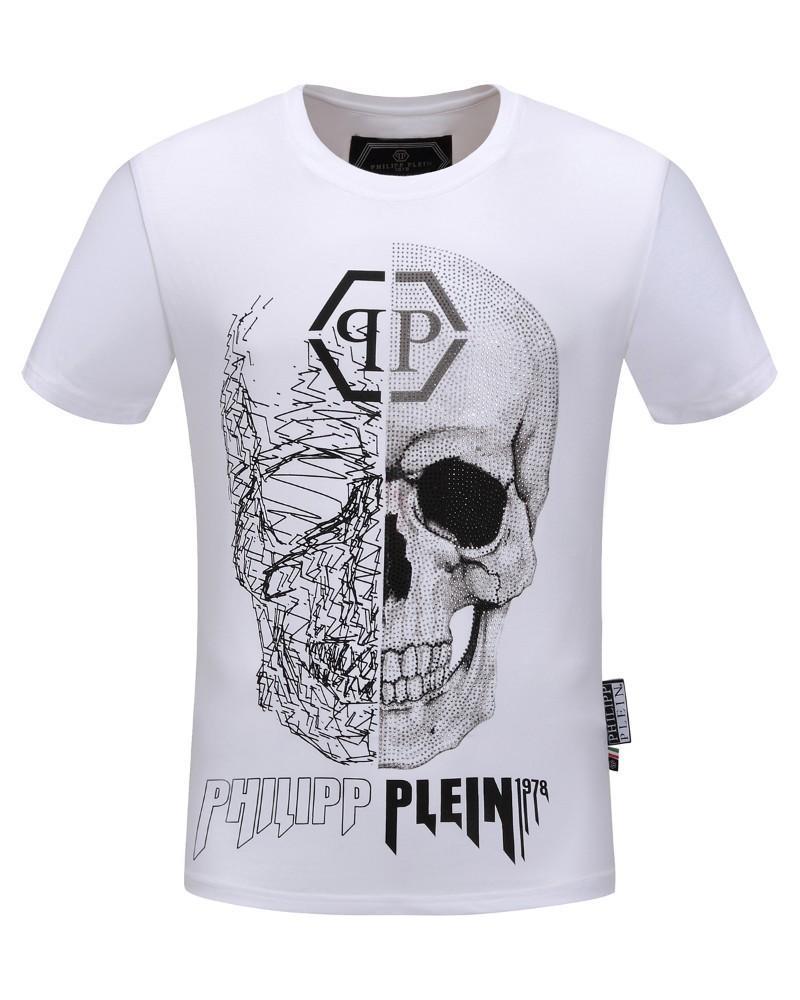 547259b49f Compre Verano Nueva Camiseta De Manga Corta De Algodón Casual De Gama Alta  Hombres Guapos Modelos De Explosión De Cuello Redondo Personalidad De Moda  ...