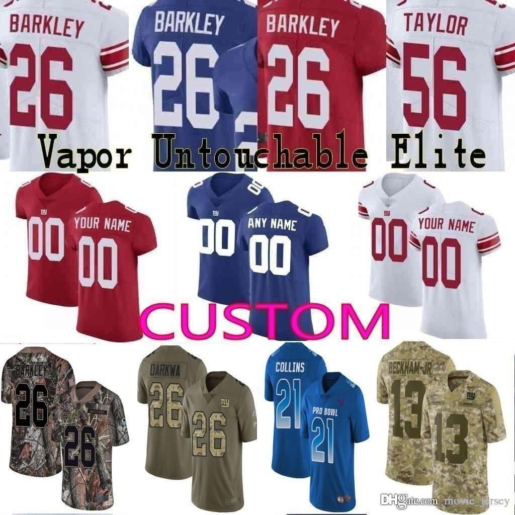 finest selection 04ff4 8fbdb 2019 Pro Bowl custom Men Youth women New York 26 Saquon Barkley Odell  Beckham Jr Eli Manning Lawrence Taylor giants Camo Elite Jersey