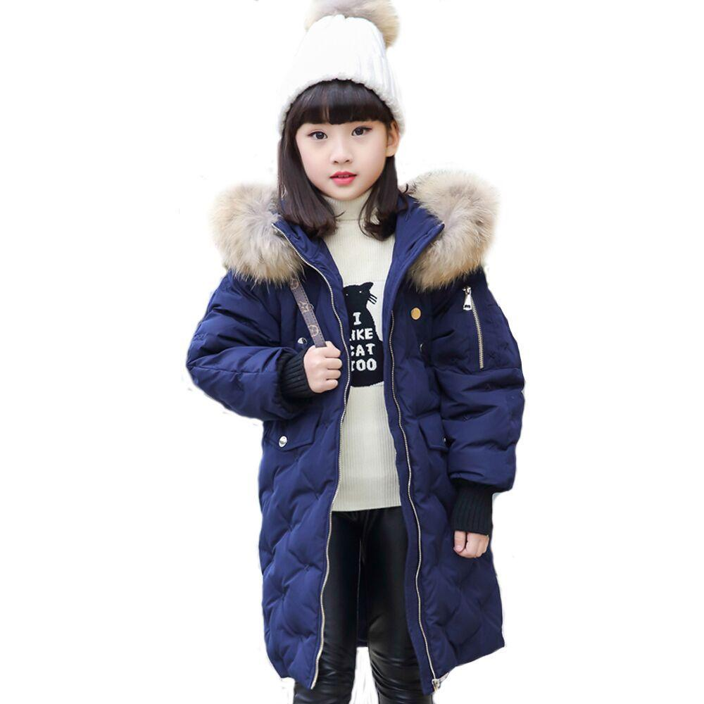1291f382b059 Kids Down Parkas Jackets For Girls Fashion Girl Winter Warm Thick ...