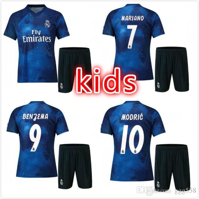 separation shoes 33aef dd3d8 kids 2019 Real Madrid 4th EA Sports Soccer Jerseys 18/19 Home MODRIC  MARCELO 2018 3rd VINICIUS JR KROOS ISCO ASENSIO BALE Football Shirts