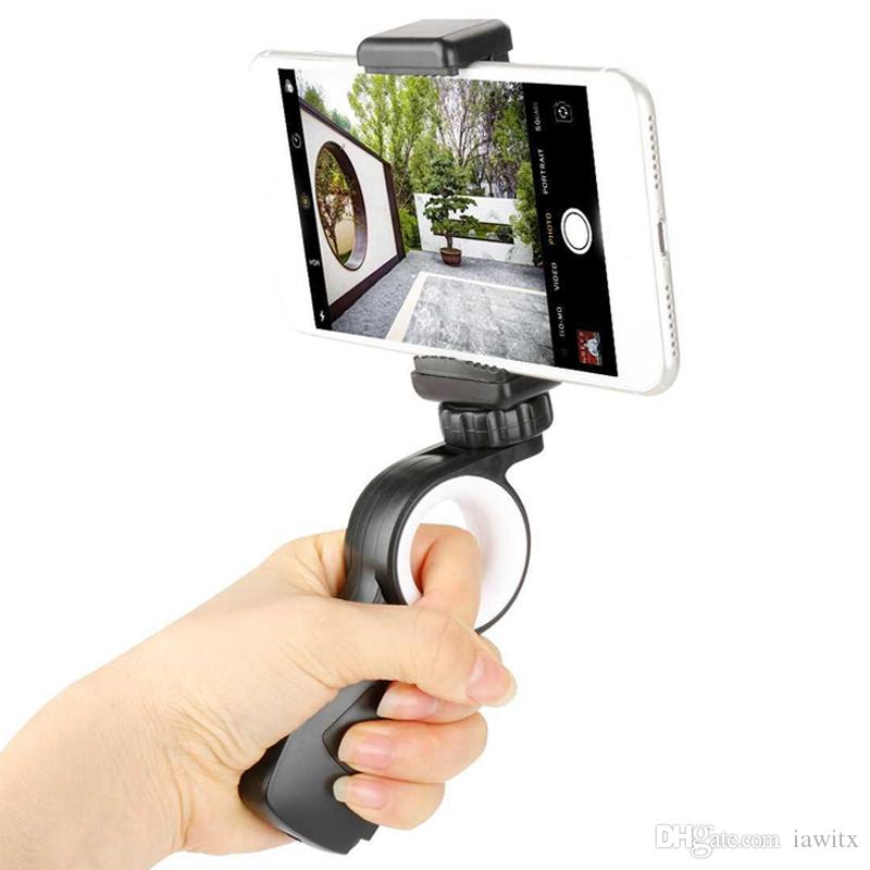 Ergonomic phone Holder Selfie Stick Hand Grip Stabilizer Handheld Mount Phone Handle Support Steadycam For iPhone LG HTC Huawei