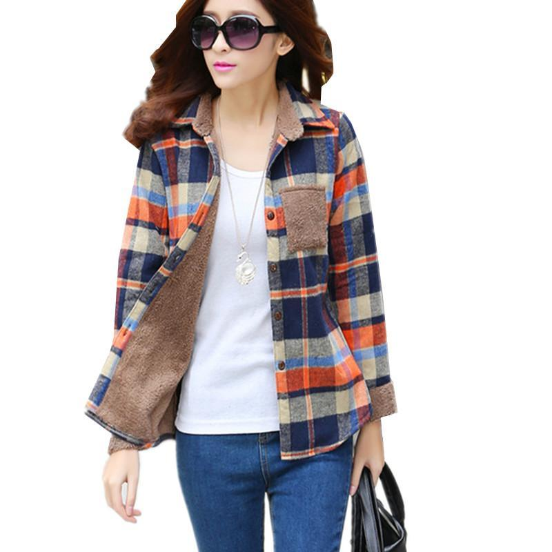 5c0ed38e 2019 New Women'S Winter Blouse Shirts Fashion Casual Warm Cardigan ...