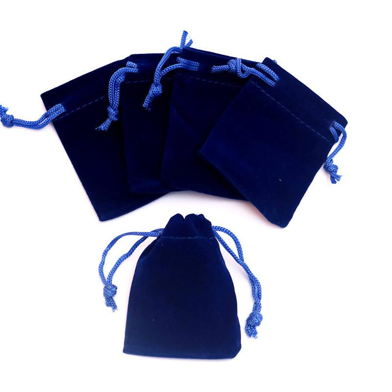 Wholesale 7x9cm Hot Pink Velvet Jewelry Bag Favor Charms Jewelry Packaging Bags Small Velvet Drawstring Pouch Gift Bag