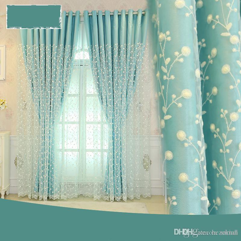 Vorhang, Verdunkelung, raumhohe Fenster, Schlafzimmer mit Princess-Wind,  verträumter koreanischer Doppelschichtstoff, ein Vorhang, fertig, einfach