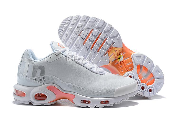 fc47c9a638608 Acheter Chaussure De Course Pour Femme Orange / Blanc Beige 2019 New Plus  TN Chaussure De Course De Basket Ball De Sport TN Drop Shipping De $50.77  Du ...