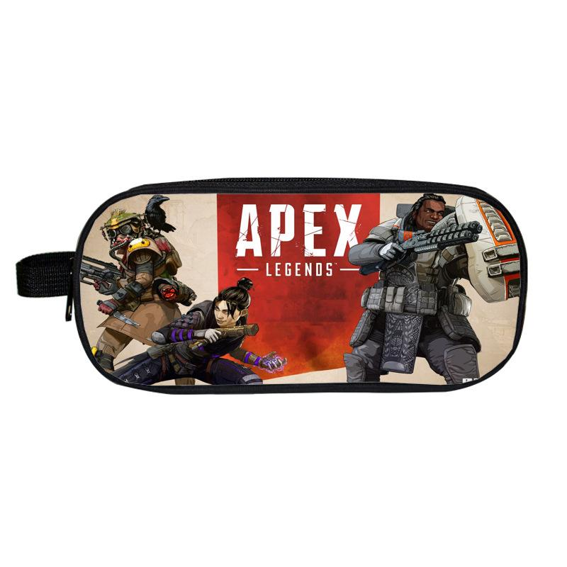 Wallets Apex Legends Kids Pen Bag Coin Bag Wallet Purse Cosmetic Box Boys Girls Pencil Pouch School Stationery Case Women