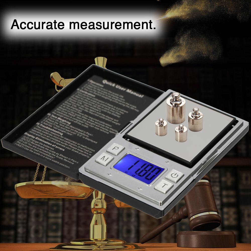 Mini bilance portatili di precisione digitale Display elettronico accurato Tipo di poker Bilancia tascabile Gioielli in oro Bilancia