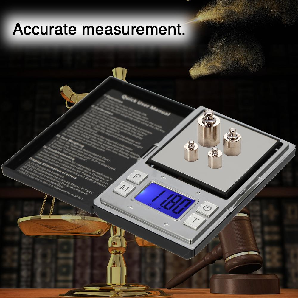 Mini Portable Precision Digital Scales Electronic Accurate Digital Display Poker Type Pocket Tea Gold Jewelry Scale