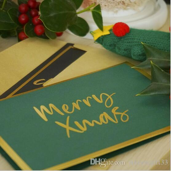 Creative Folding Simple Letter Gilding Gift Card Festival Wedding