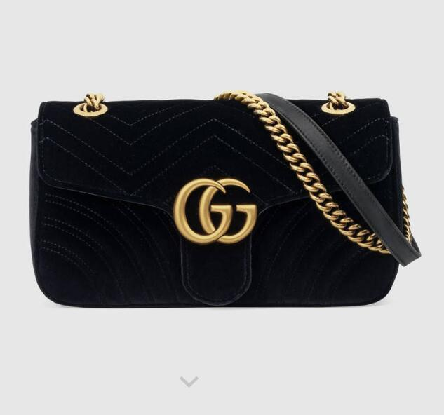 2b2f51363075f4 2019 2019 443497 Marmont Series Velvet Shoulder Bag Top Handles Boston  Totes Shoulder Crossbody Bags Belt Bags Backpacks Luggage Lifestyle Bags  From ...