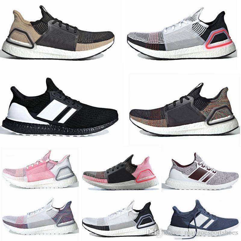 buy popular d89cc d83c4 Acheter 2019 New Ultra Boost Ultraboost 19 Chaussures De Course Pour Hommes  Femmes Oreo REFRACT True Pink Hommes Formateur Primeknit 4.0 Baskets De  Sport De ...