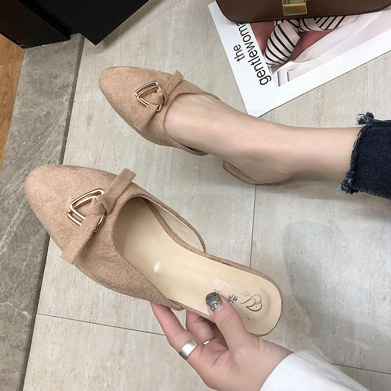 707eed9a22 Slipper Narrow Band Summer Allmatch Slides Women Closed Toe Fashion Pointed  Toe Microfiber Low Loafer Flat Slides Woman Modis Slippers For Men  Moccasins For ...