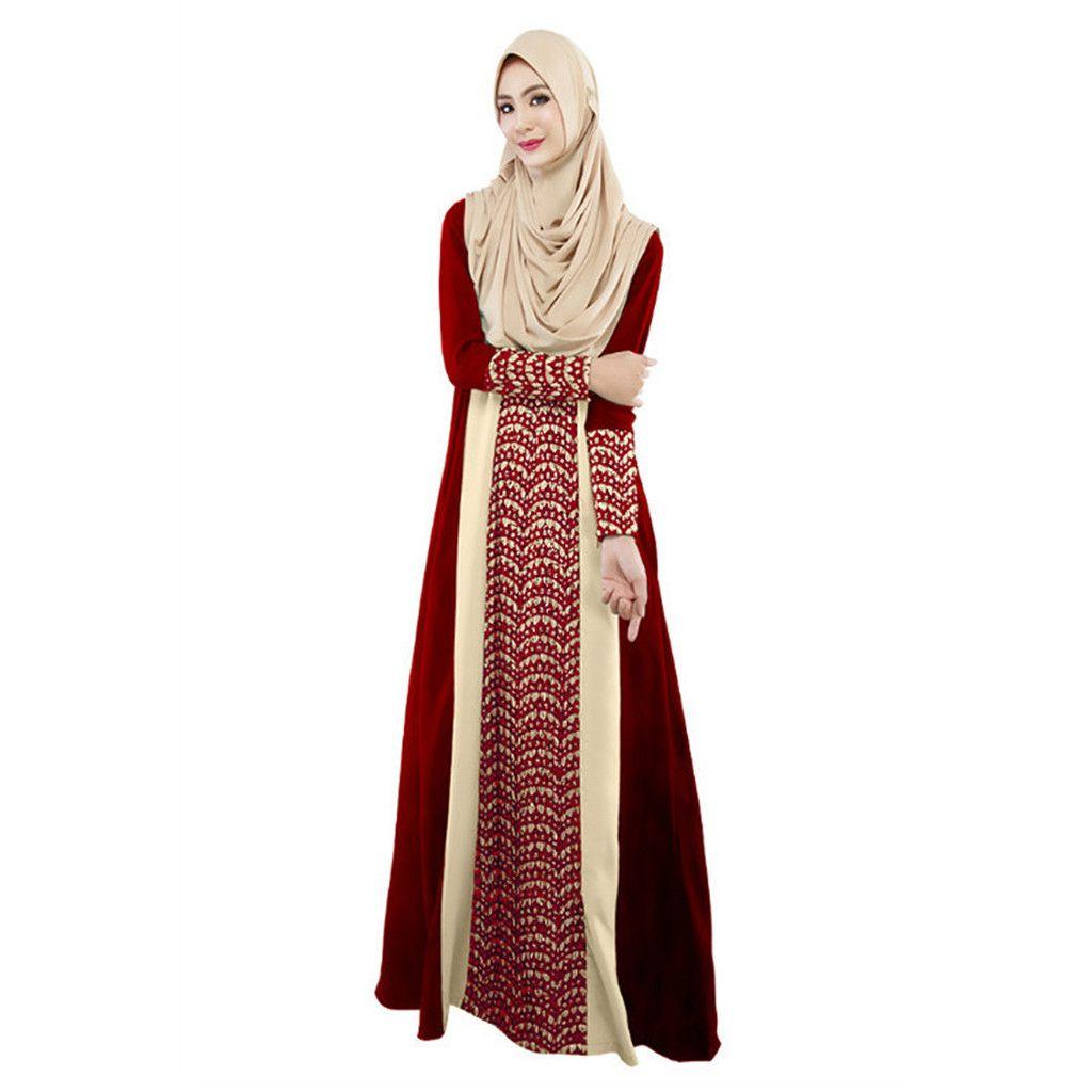 2584f6ecf5 2019 Fashion High Quality Plus Size Islamic Clothing Muslim Turkish Dresses  Abayas For Women Abaya Dubai Bangladesh Dress Caftan 4.12 From Redbud03