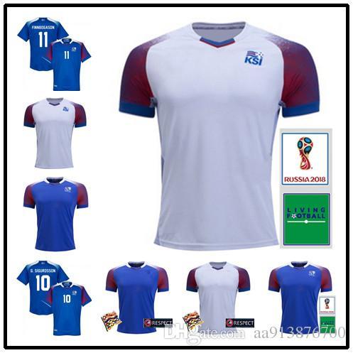 big sale e1652 db90f 18 19 Iceland jerseys 2018 World Cup Iceland G.SIGURDSSON #10 GUDMUNDSSON  #6 Soccer Jersey SIGTHORSSON #9 TRAUSTASON #21 football shirts
