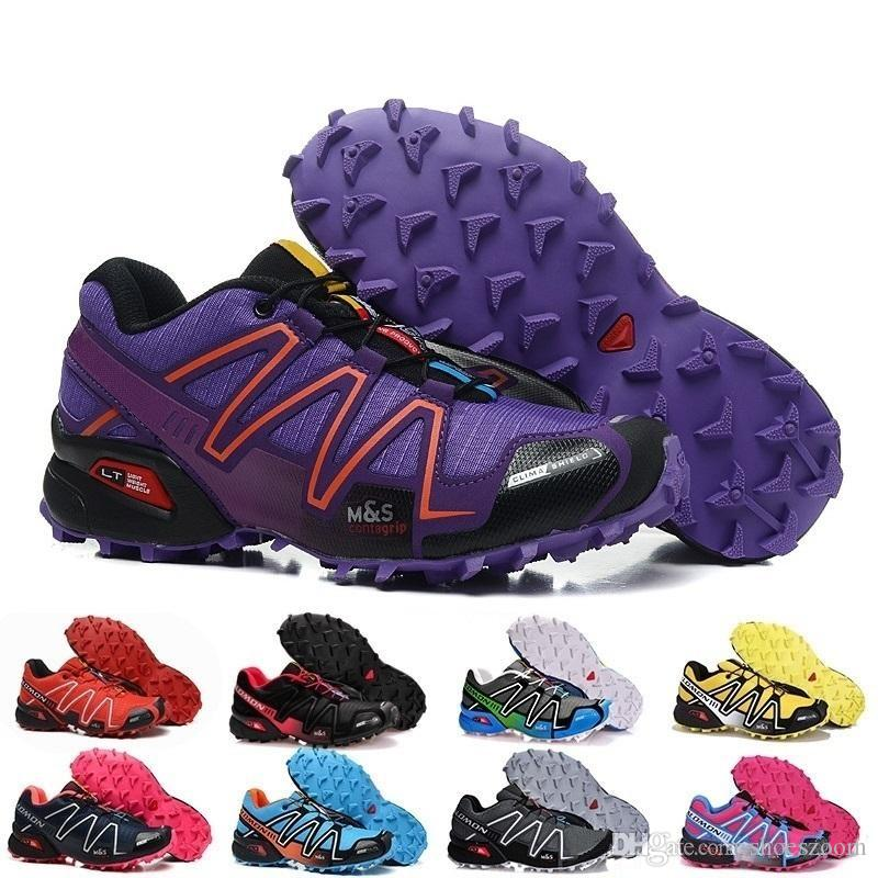 720aa679dc4 Acheter Nouvelle Marque Hommes Femmes Speedcross 3 CS Trail Chaussures De  Course Hommes Léger Baskets Marine Salomon III Zapatos Chaussures De Sport  TAILLE5 ...